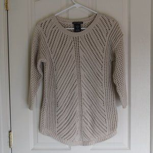Chelsea & Theodore Cream Crochet Sweater